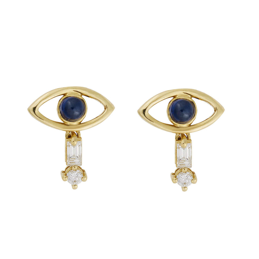 Tiny Baguette Eye Stud Y-D-Bs