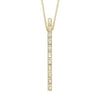 Thread Baguette 11 Diamond Pendant