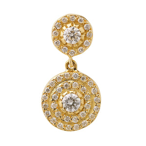 Double Solitaire Earrings Y-D