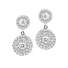 Double Solitaire Earrings W-D
