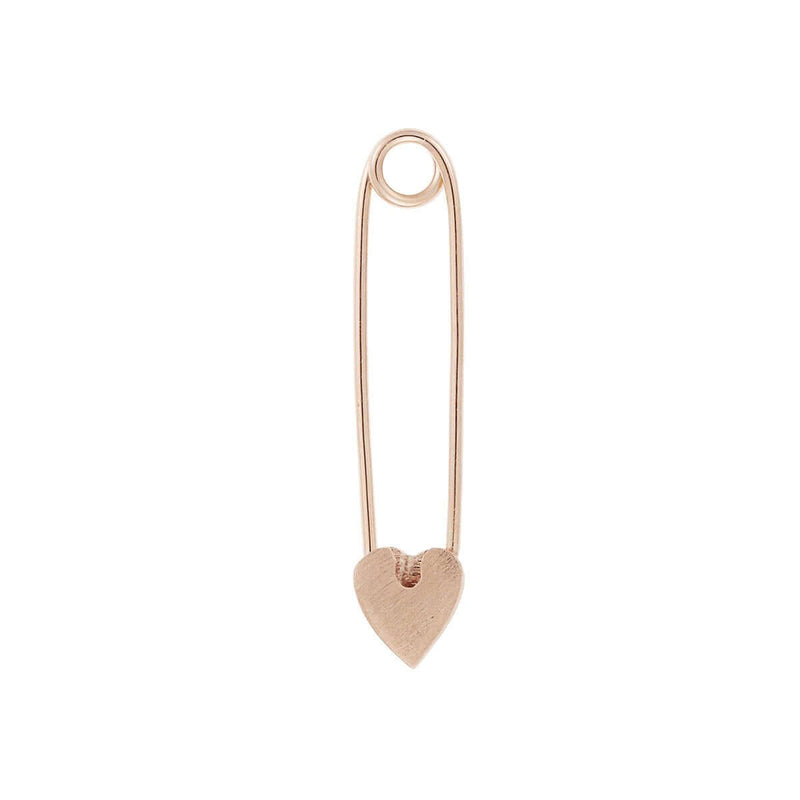 Safety Pin Heart - Red Enamel