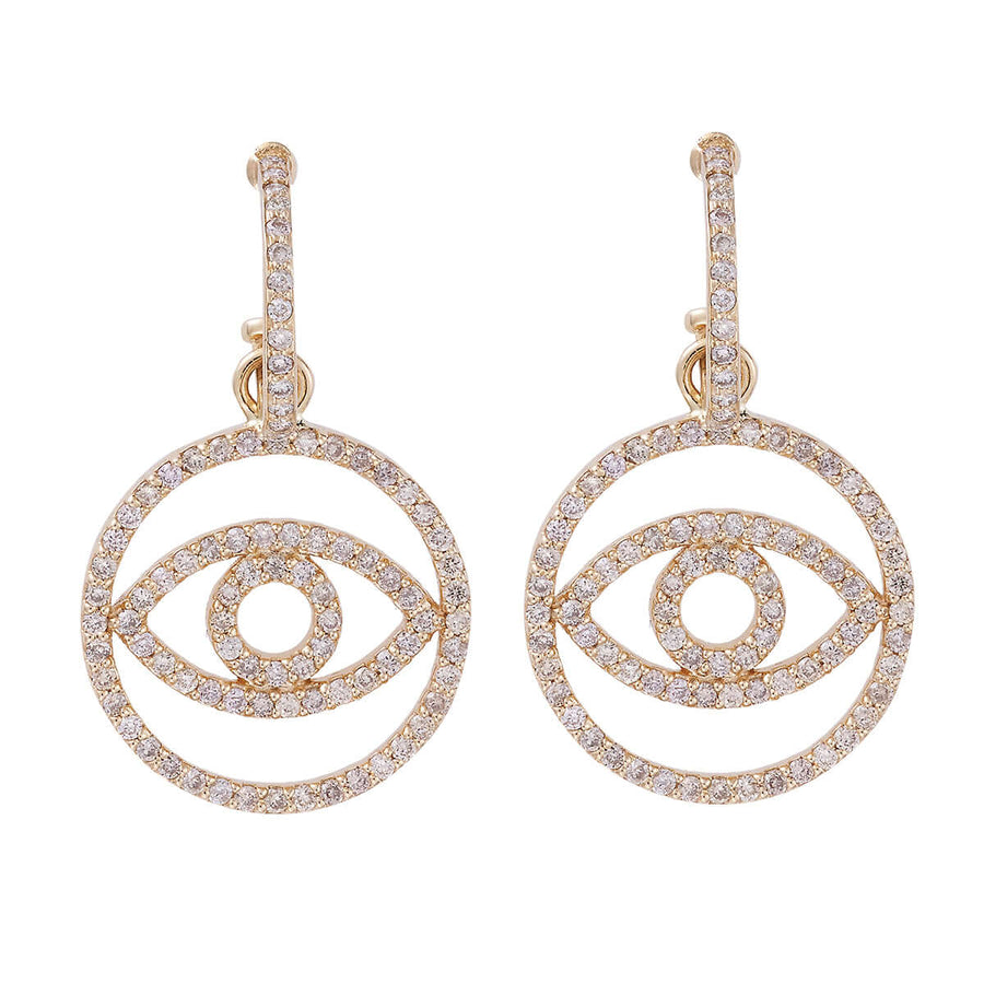 Diamond Circled Eye Hoops