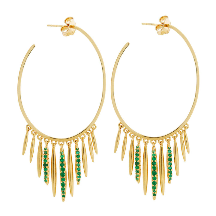 Grass Sunset Leaf Hoops - L