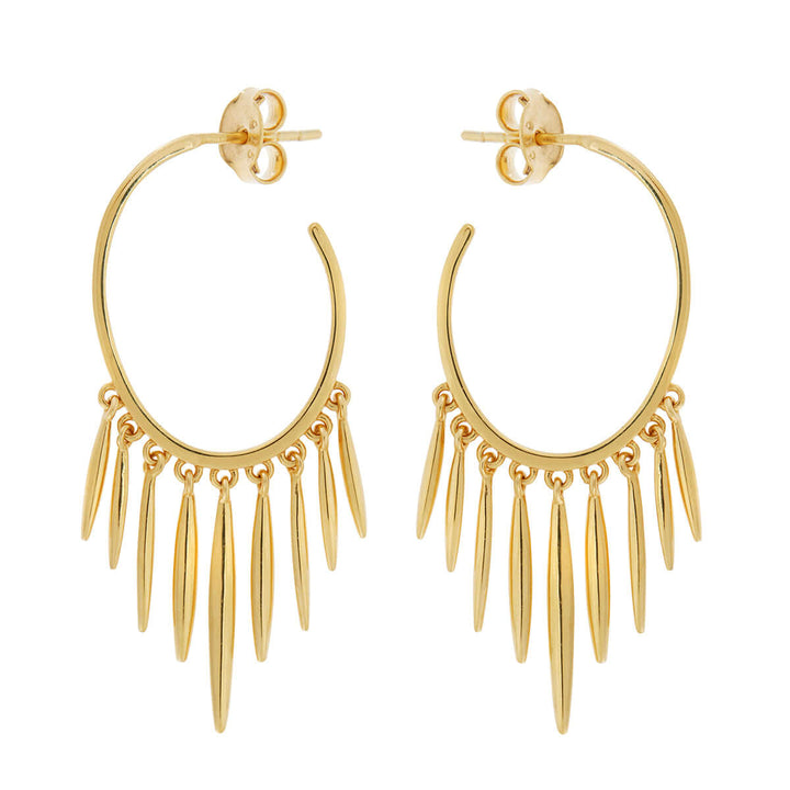 Grass Sunset Spike Hoops