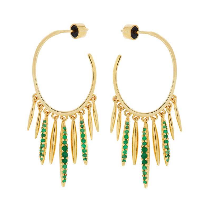 Grass Sunset Spike Hoops Y-EM