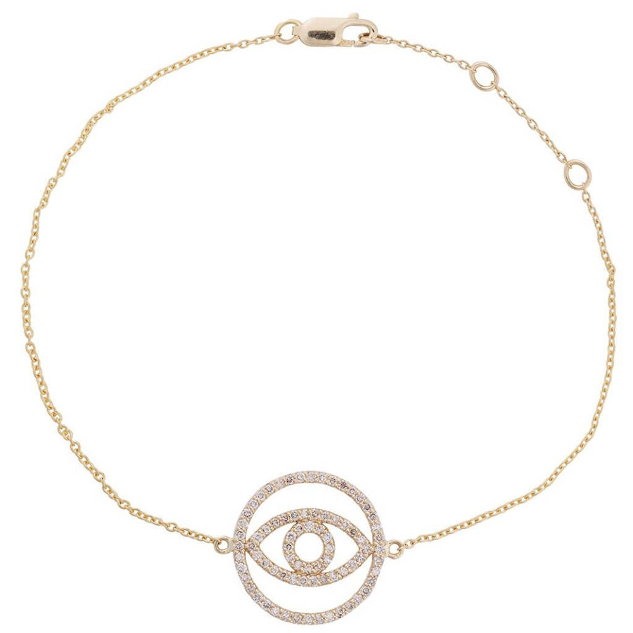 Diamond Circle Eye Bracelet Y-ttlb