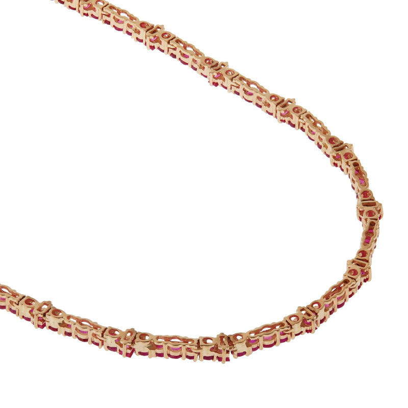 Ruby Rivulet Necklace Y14-Ru
