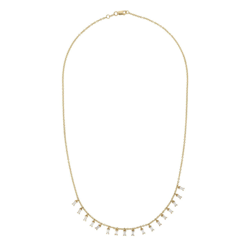 Baguette Drop Necklace Y-D-L