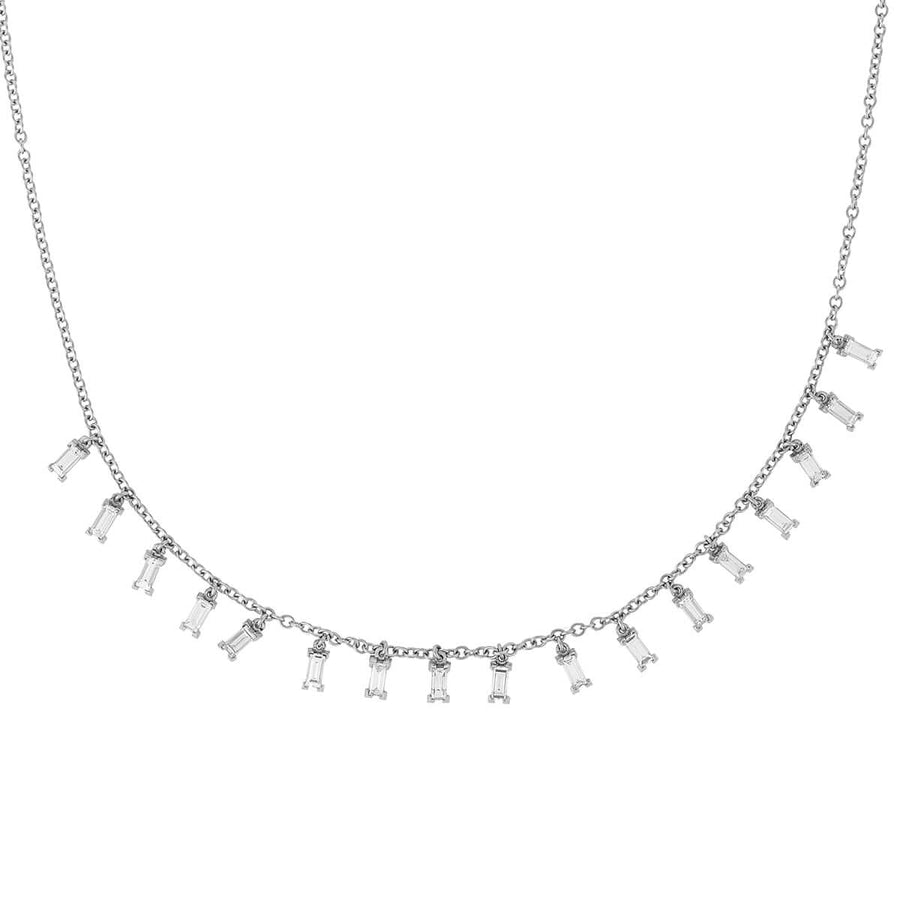 Baguette Drop Necklace W-D-L