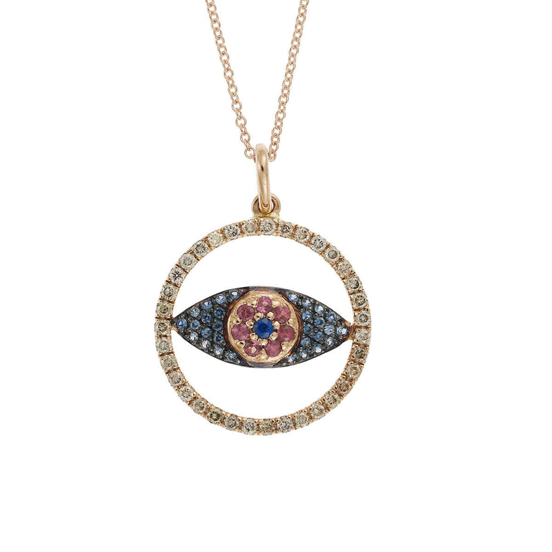 Round Open Eye Pendant P-Chd-Bs-Rodo