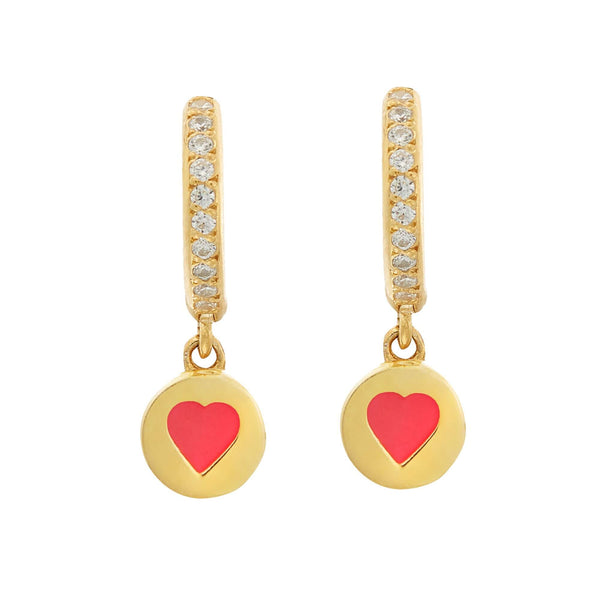 Enamel Love Mini Hoops