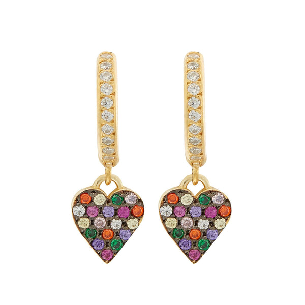 Rainbow Love Midi Hoops