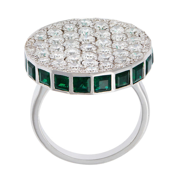 Emerald Ice Candy Ring W-D-Em