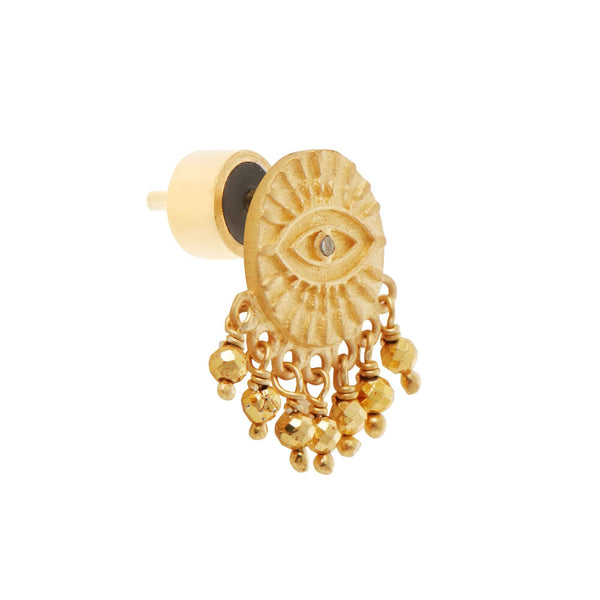 All Seeing Eye Golden Tear Studs