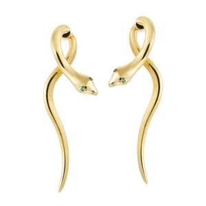 Boa Earrings - Tsavorites