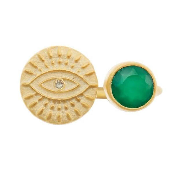 All Seeing Eye Open Ring