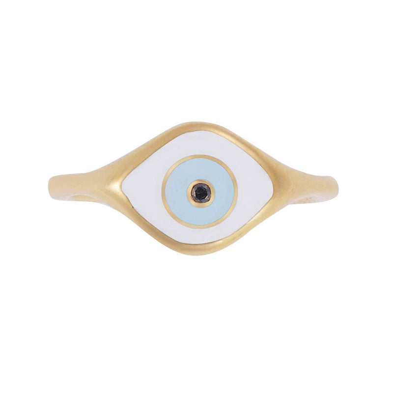 Enamel Cats Eye Ring