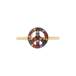 Rainbow Peace Ring