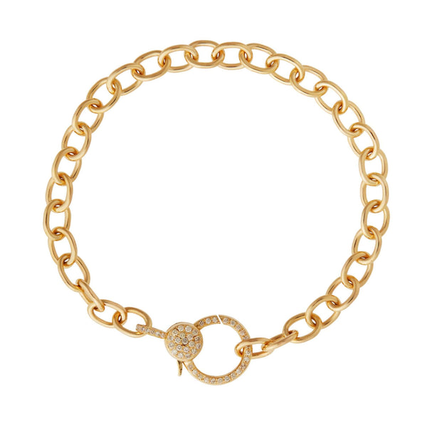 Diamond Lock Chain Bracelet Y14-D