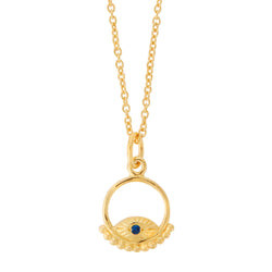 All Seeing Eye Blue Pyramid Necklace