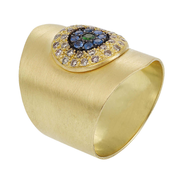 Round Eye Shield Ring Y