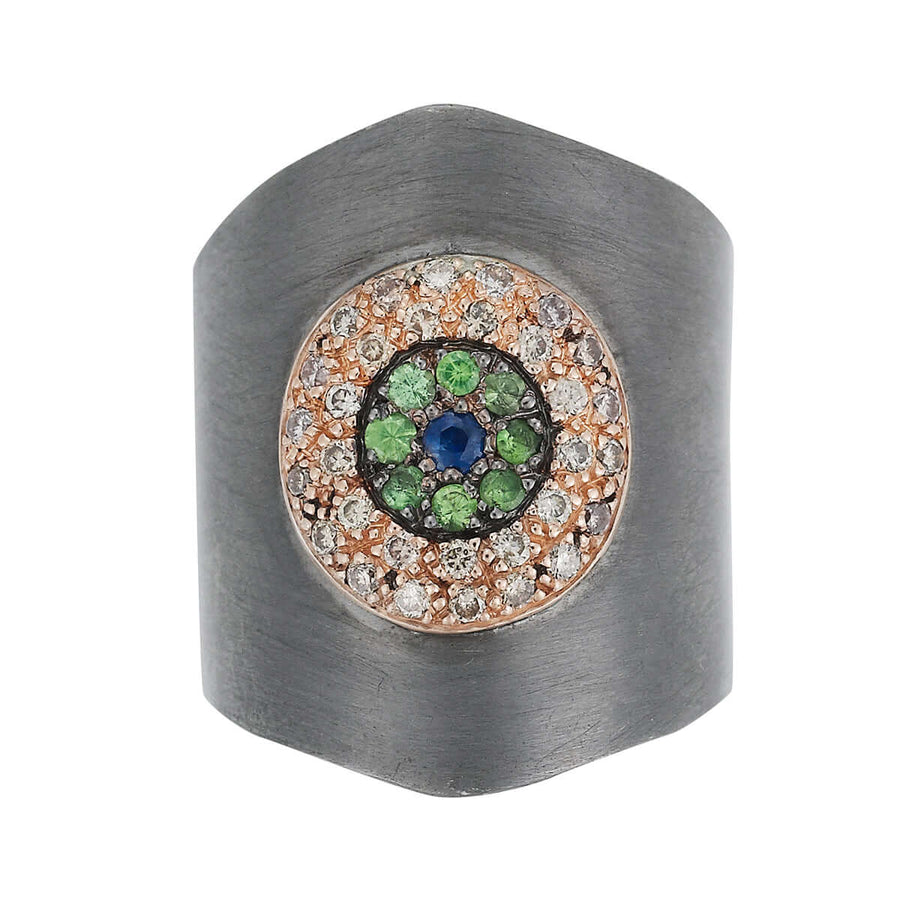 Round Eye Shield Ring Slv
