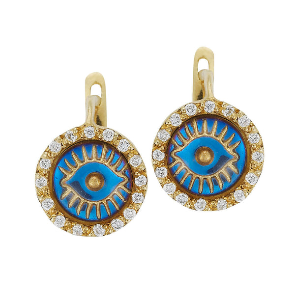 Iredescent Eye Earings - D