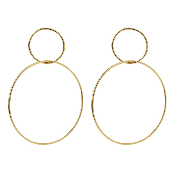 Double Slim Hoops Y-M