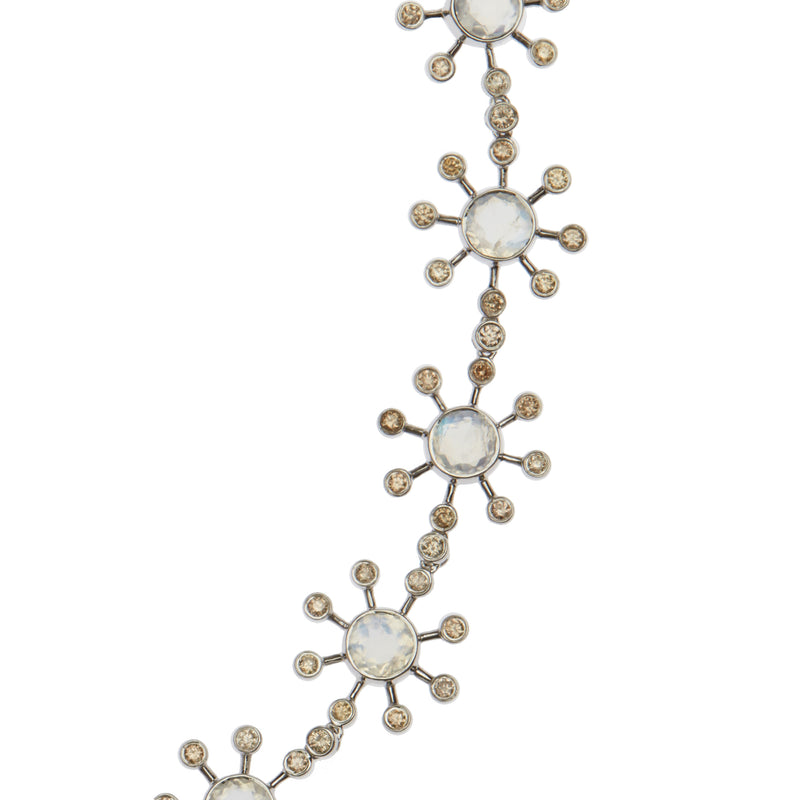 Moonstone Blossom Necklace W-D