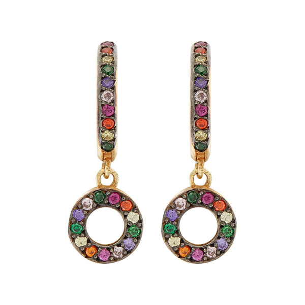 Rainbow Candy Midi Hoops