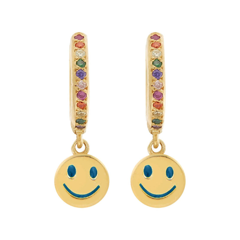 Enamel Rainbow Happy Midi Hoops