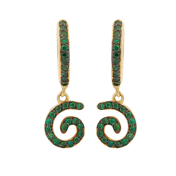 Green Lollipop Midi Hoops