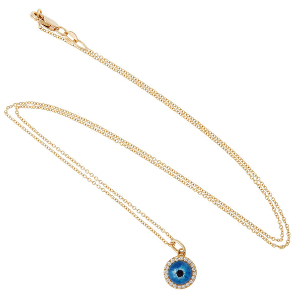 Little Deep Blue Evil Eye Y-D-QUARTZ