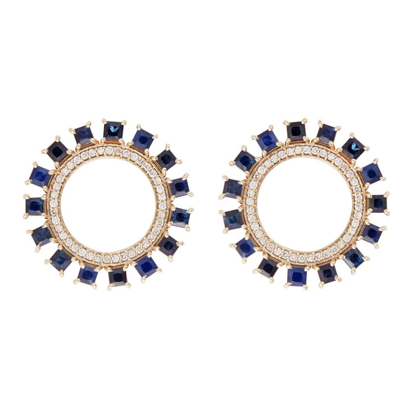 Blue Sun Earrings W-D-BS