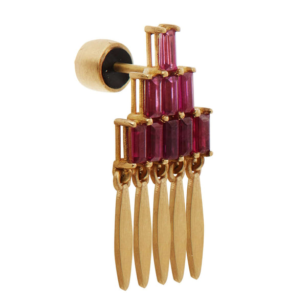 Grass Mini Spike Earrings Y-RU