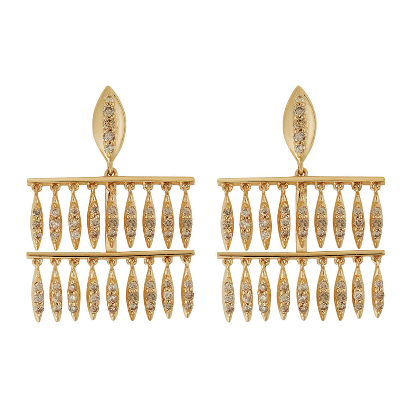 Grass Mini Raining Drops Earrings Y-LCHD