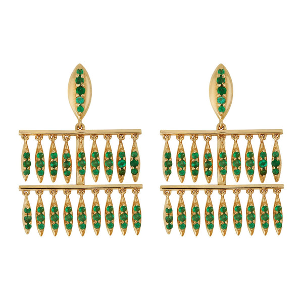Grass Mini Raining Drops Earrings Y-EM