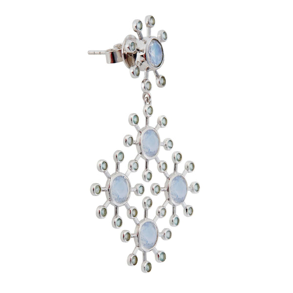 Moonstone Blossom Earrings W-AP