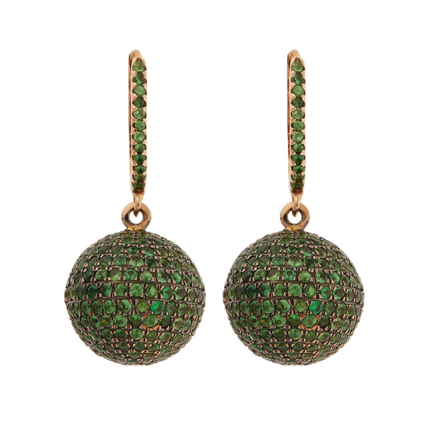 Small Pave Clip Ball Earrings P-Oxs-Ts