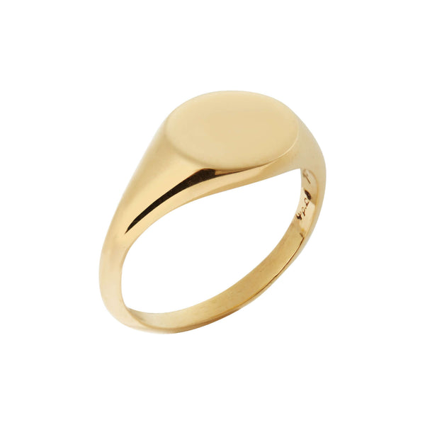 Gold Chevalier Ring Y