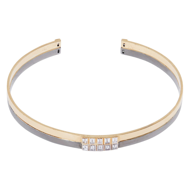 Thread Baguette Double Cuff Y-W-OX-14D