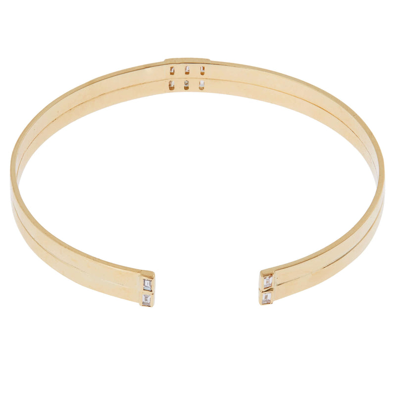 Thread Baguette Double Cuff Y-10D