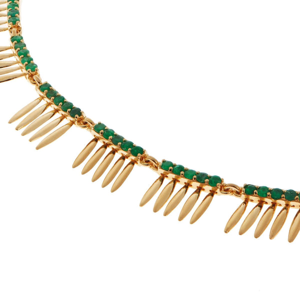 Grass Sunny Leaves Necklace Y-EM