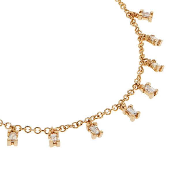 Baguette Drop Necklace Y-D-S
