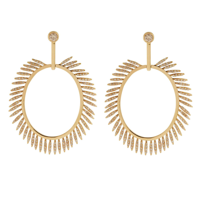 Grass Sunny Diamond Earrings Y-LCHD