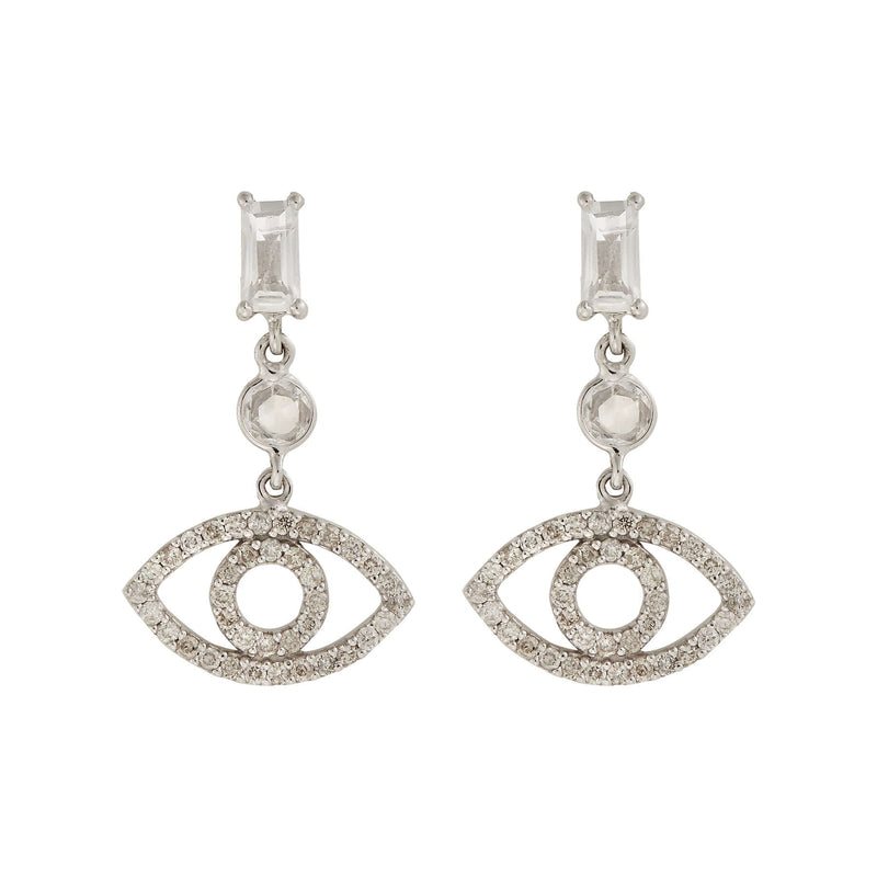Baguette Empty Eye Earrings