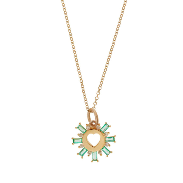Green Sun Love Pendant