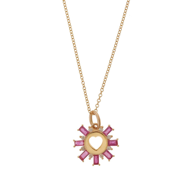 Red Sun Love Pendant