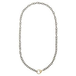 Gold Lock Chain Necklace Y-SLV-OX