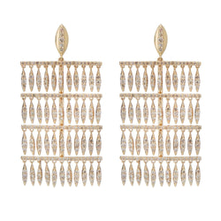 Grass Raining Drops Earrings Y-LCHD